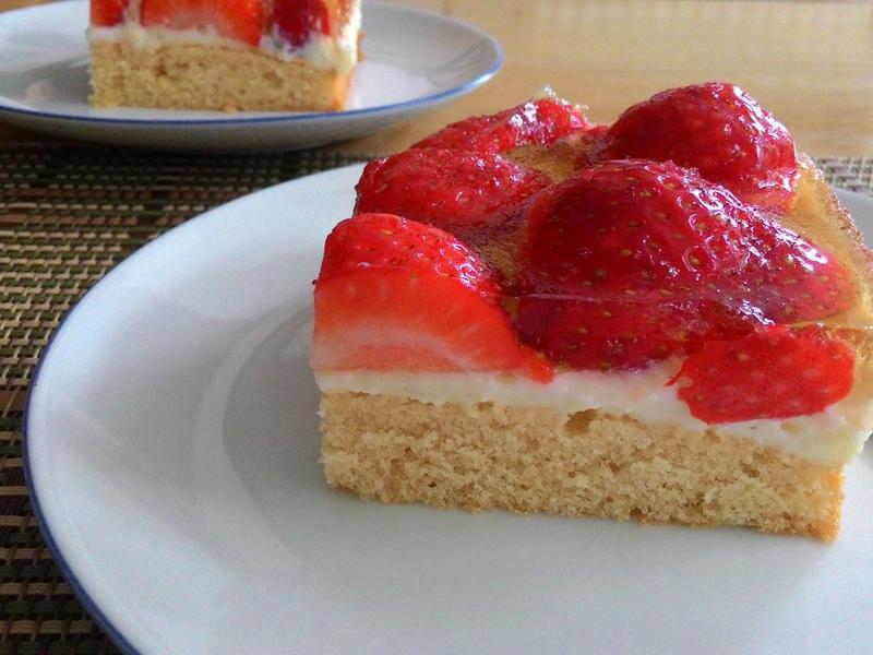 德式草莓蛋糕 (可免烤)