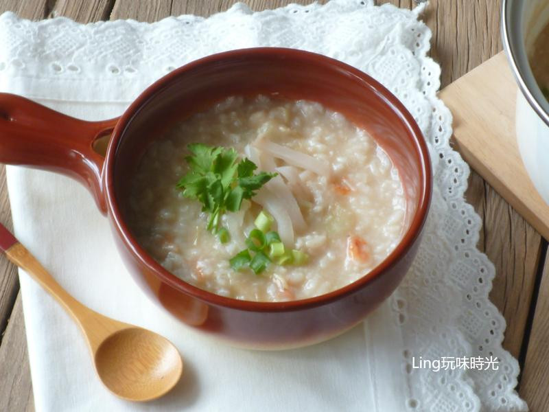 櫻花蝦鮮貝粥