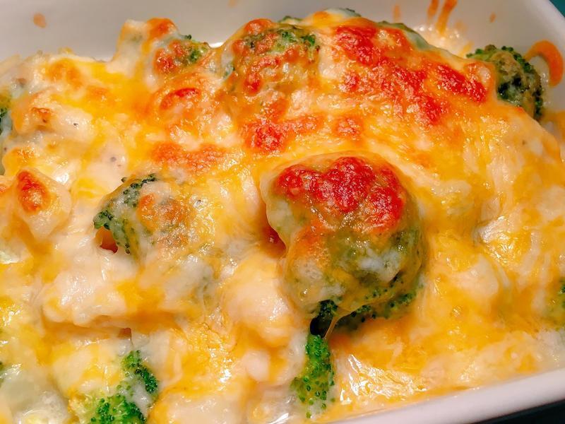 香濃起司焗烤花椰菜
