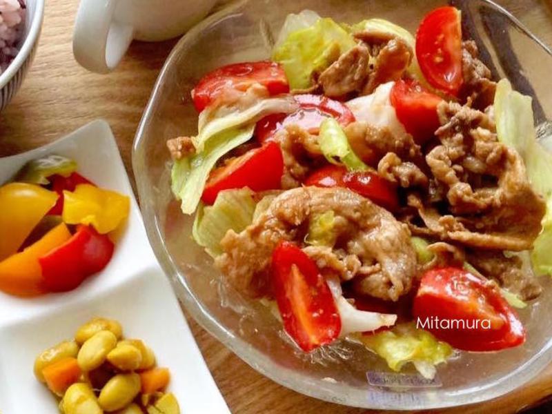 薑汁燒肉生菜沙拉