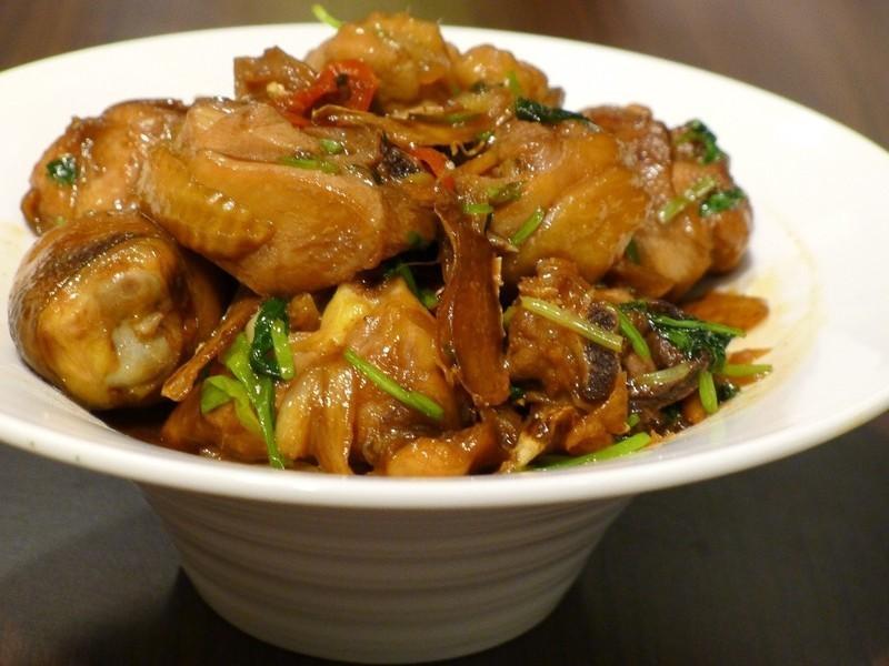 品靚上菜-三杯雞(香菜篇)