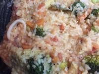花枝蔬菜奶油粉醬燉飯