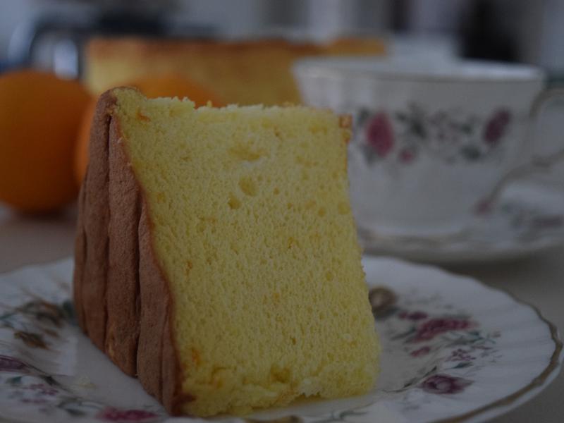 鮮橙戚風蛋糕 [鬆軟、綿密]