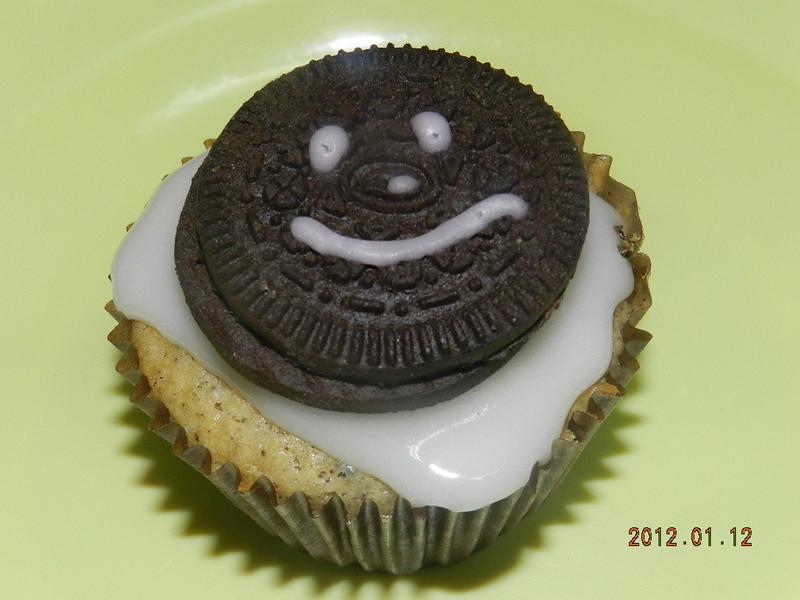 ㄚ曼達的廚房~微笑巧克力餅乾蛋糕(抹茶紅豆蛋糕)