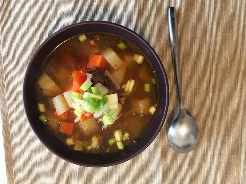 蕃茄蘿蔔牛肉湯