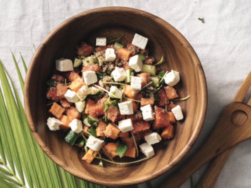 【信豐農場】西瓜紅藜沙拉