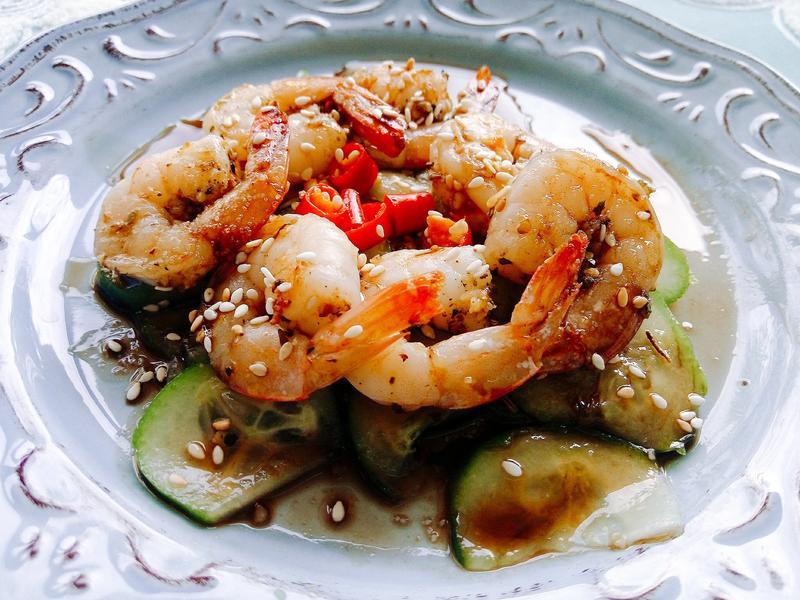 義式蒜蝦黃瓜沙拉