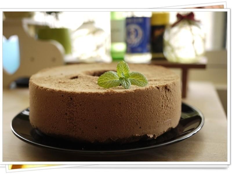 軟綿綿巧克力戚風蛋糕8吋
