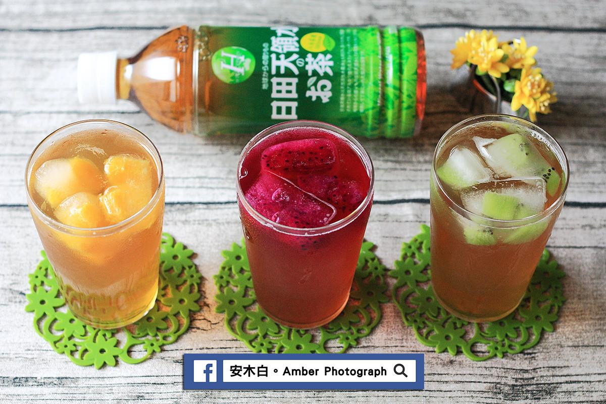 水果冰塊蜂蜜綠茶