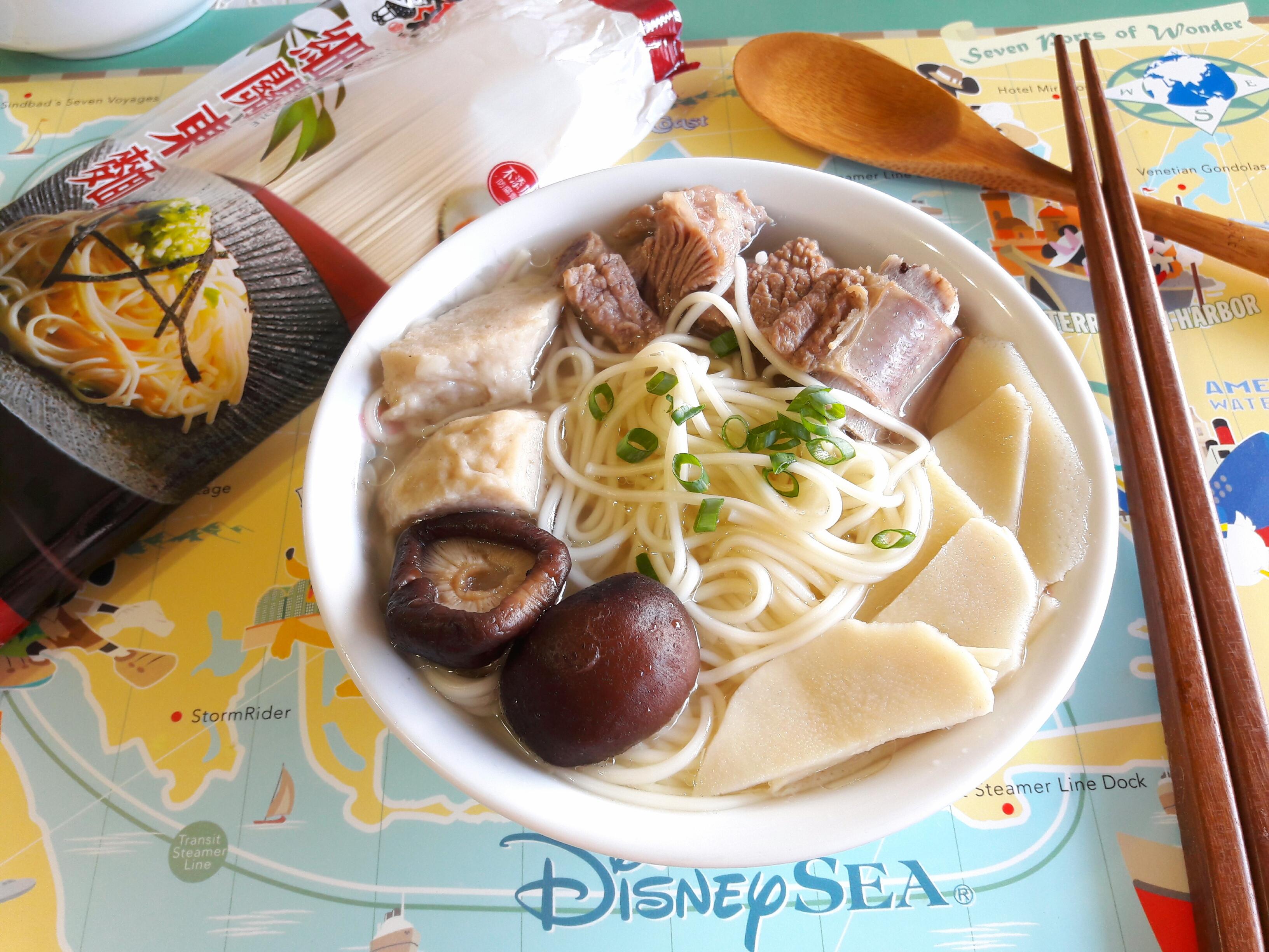 鮮筍排骨湯麵-五木拉麵