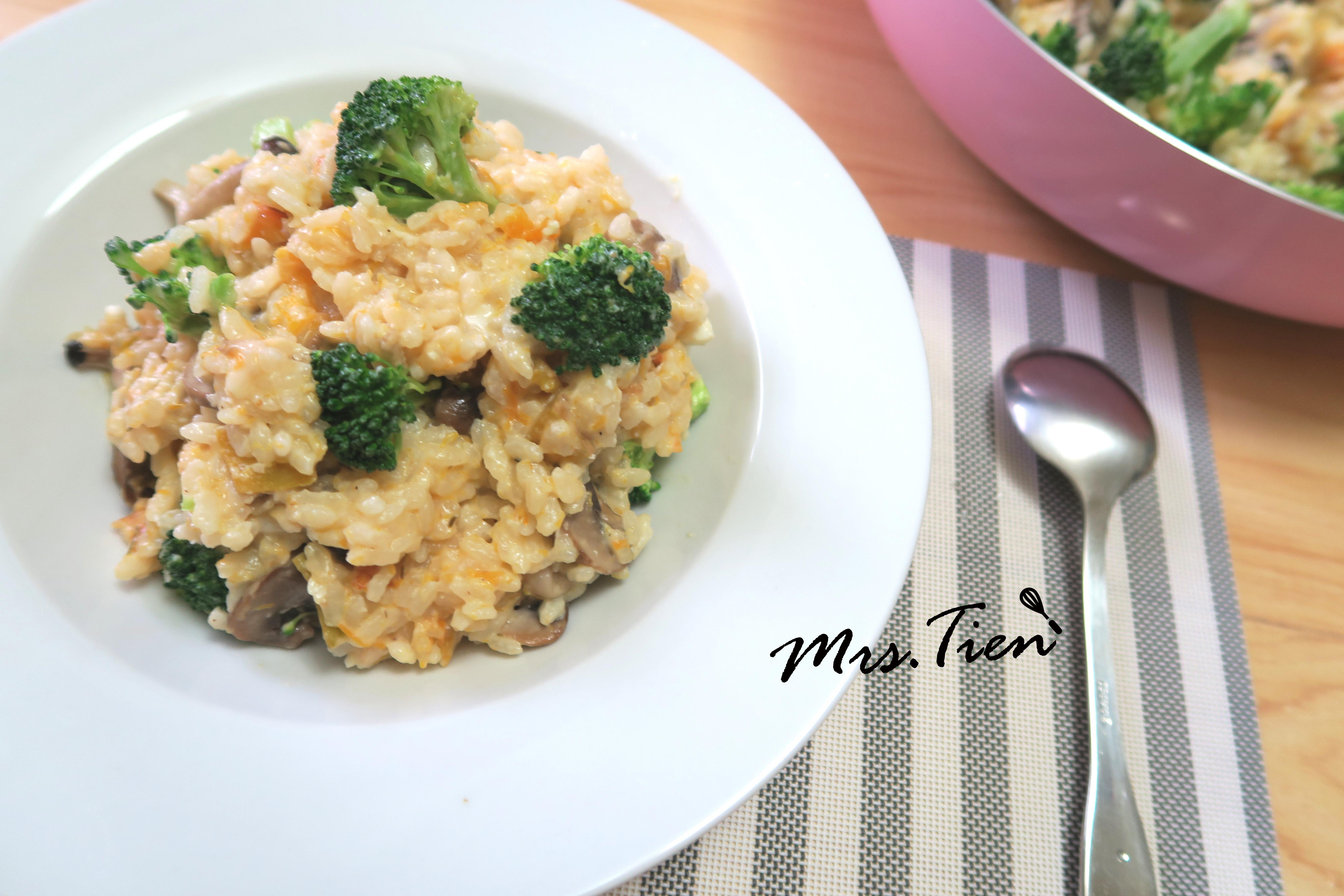 南瓜菇菇燉飯 ✿小田太太玩樂廚房✿