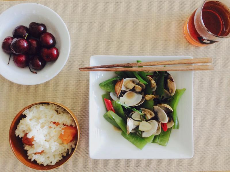 清炒蛤蜊青椒