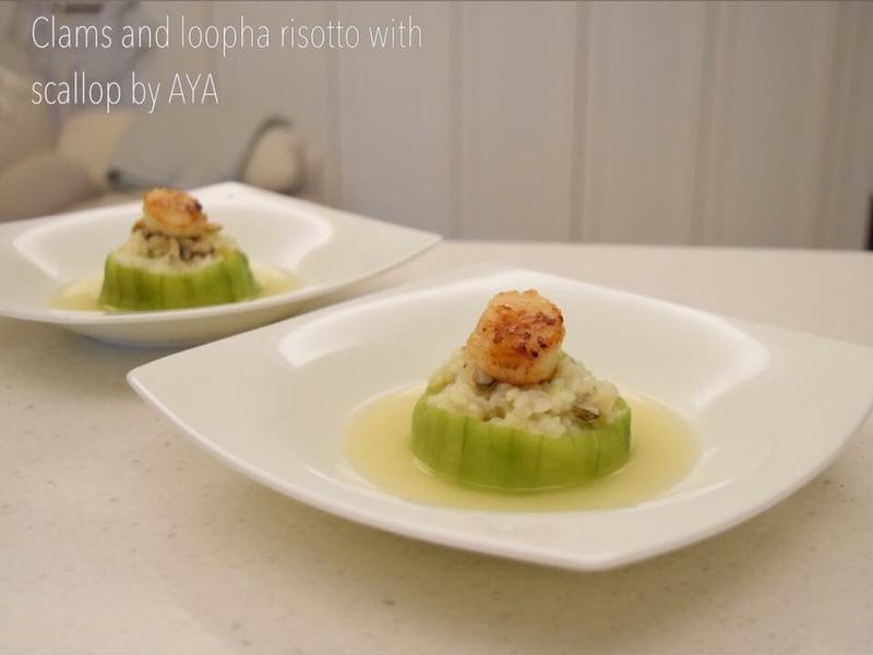 蛤蜊絲瓜燉飯