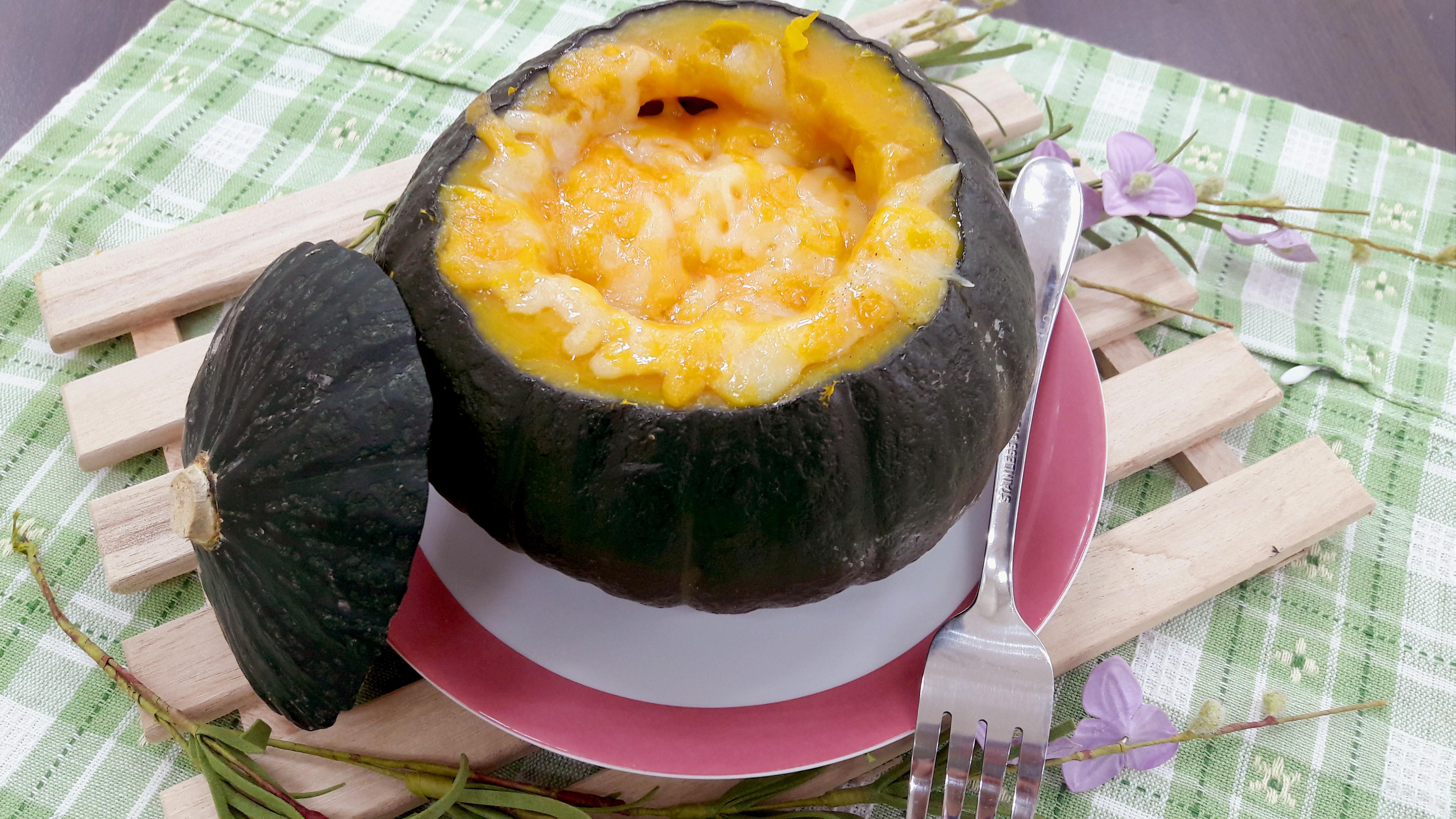焗烤米糕南瓜盅