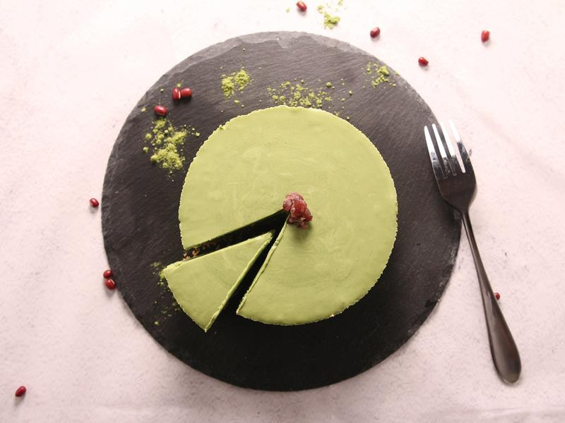 六吋宇治抹茶紅豆乳酪蛋糕   免烤箱