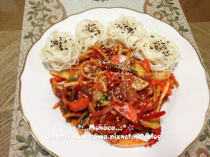 韓式涼拌海螺골뱅이무침