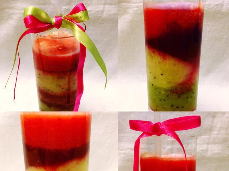 彩虹蔬果汁