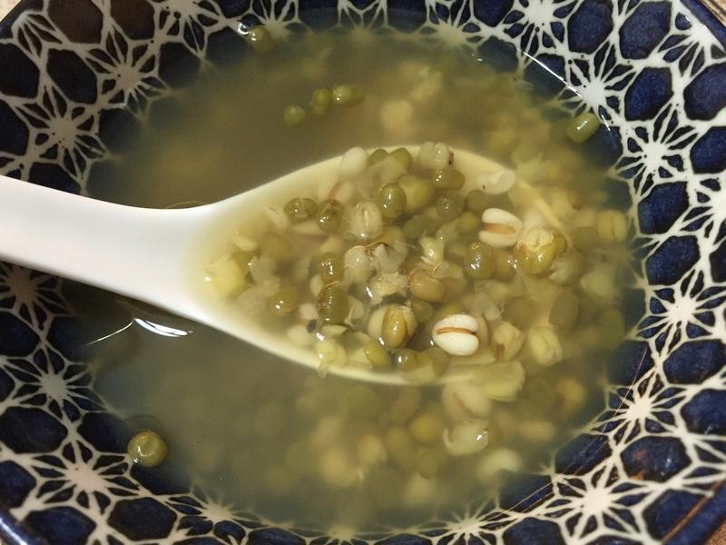薏仁綠豆湯,微波20分鐘快速煮
