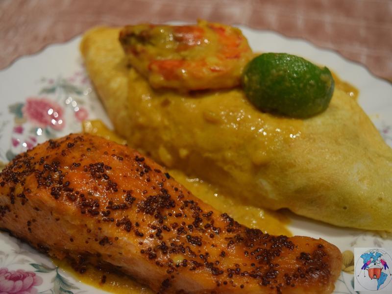 泰式鮮蝦咖哩蛋包飯【簡單】