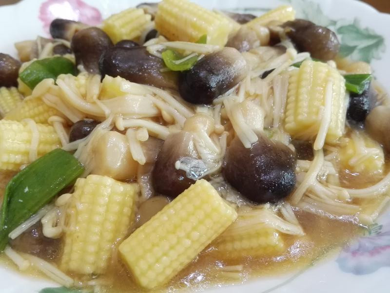 草菇燴玉米筍