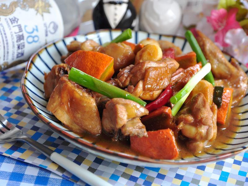 南瓜燒酒燉雞【38度金門高粱酒】