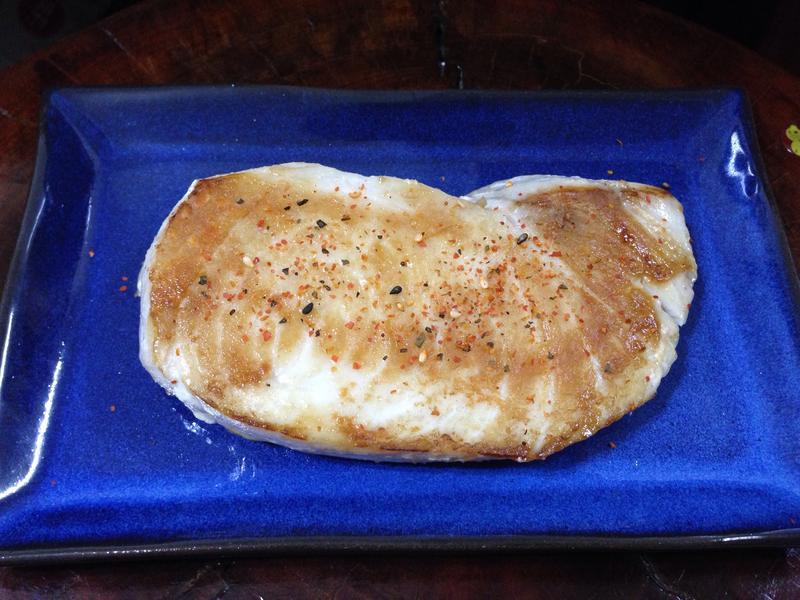 香煎旗魚排佐七味唐辛子