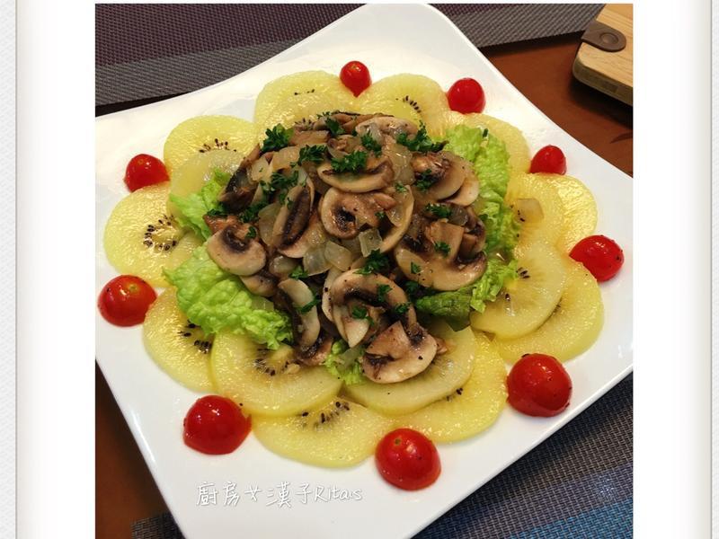 蘑菇熱沙拉