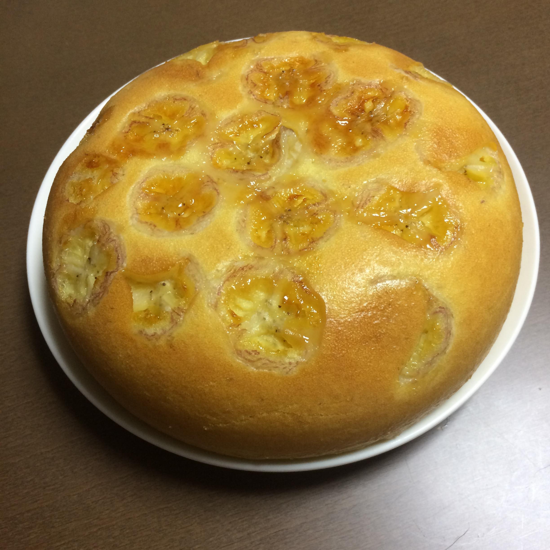 超簡單!電子鍋香蕉優格蛋糕