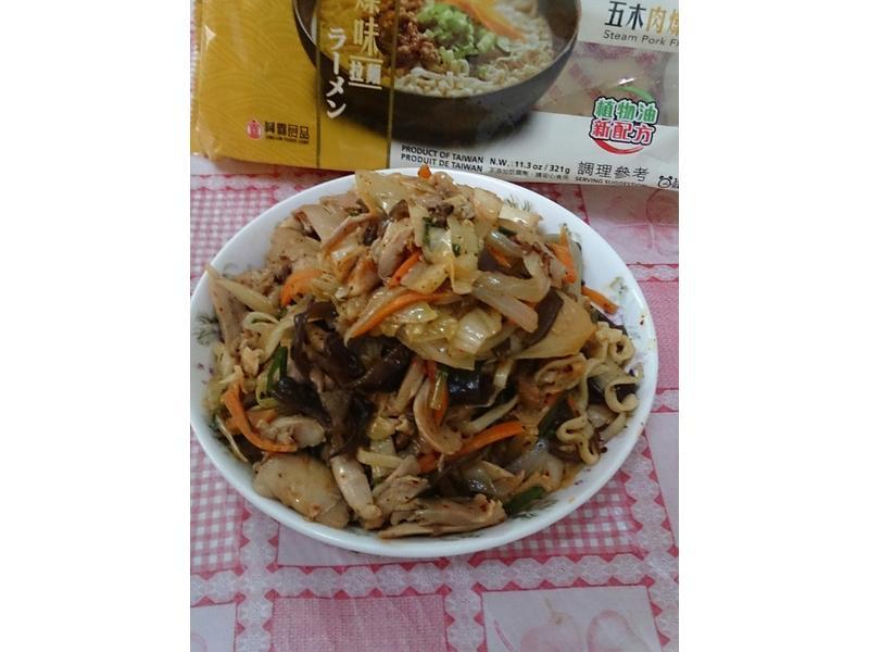 泡菜炒麵-五木拉麵