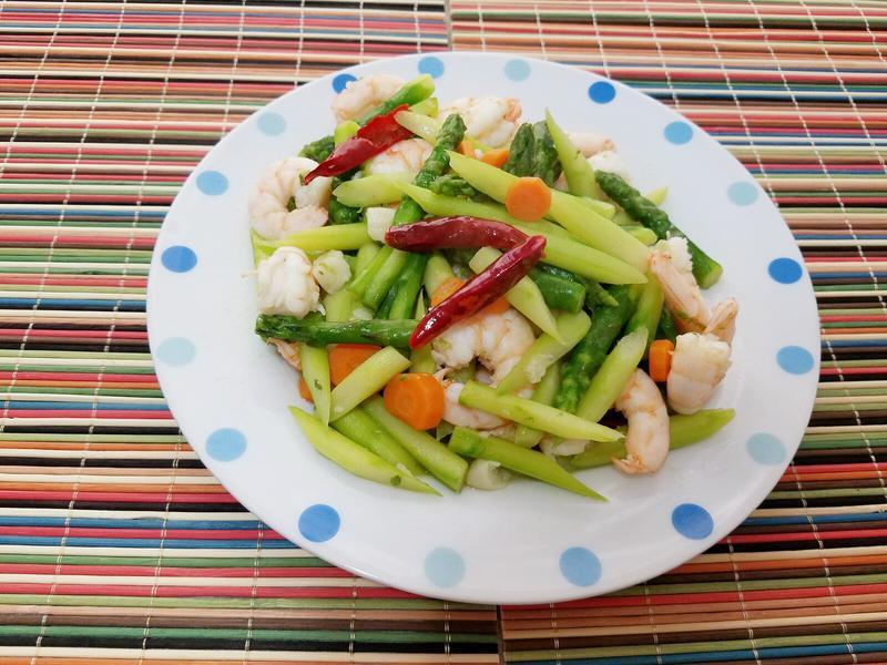 綠蘆筍炒鮮蝦