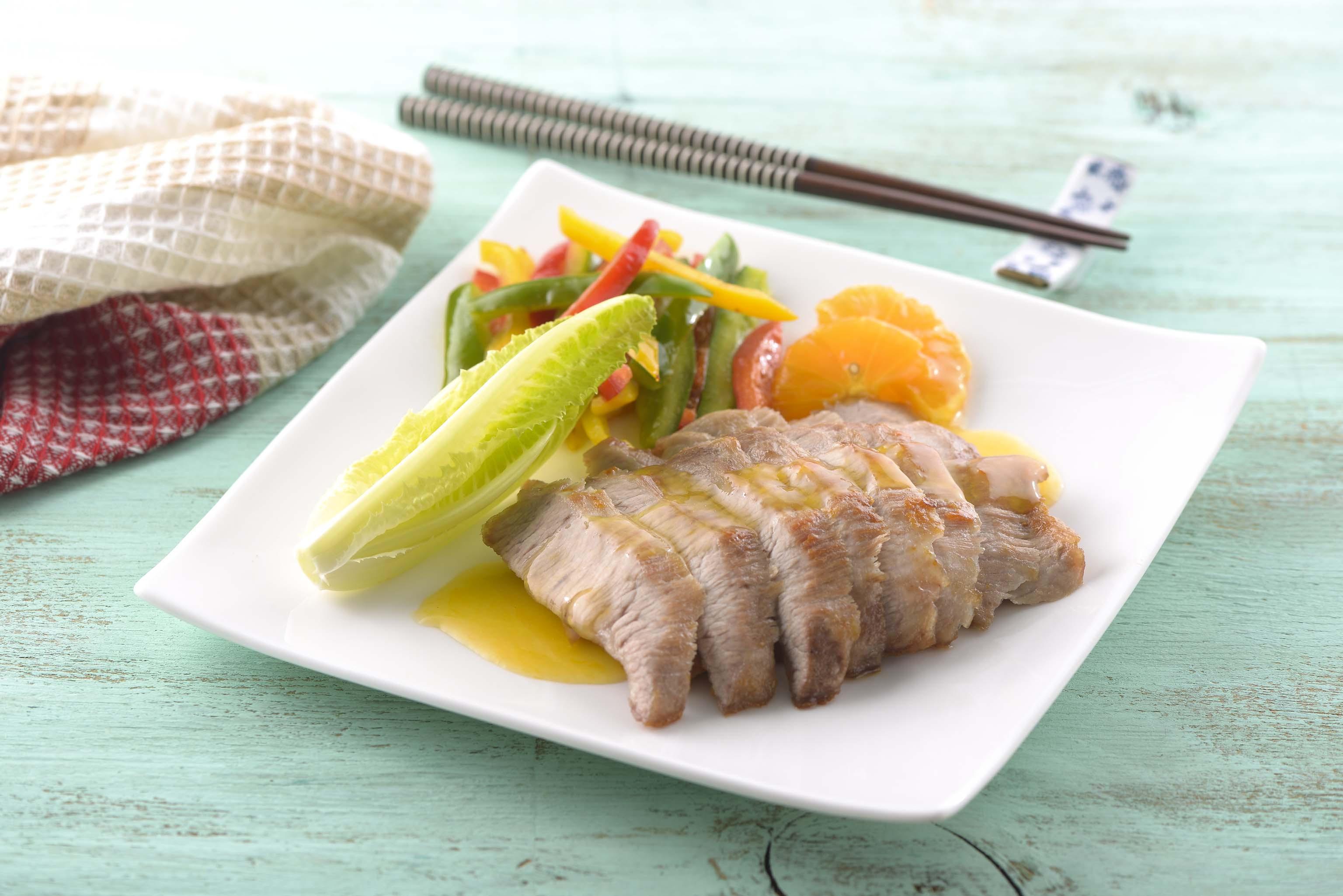 橙汁松坂肉(家香豬)