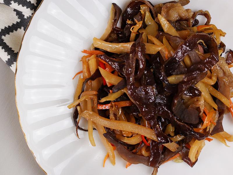榨菜黑木耳絲-低卡素料理的好配菜