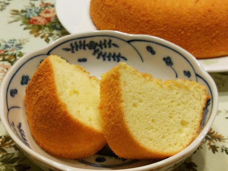 清香百香果戚風蛋糕 (燙麵+蒸烤)