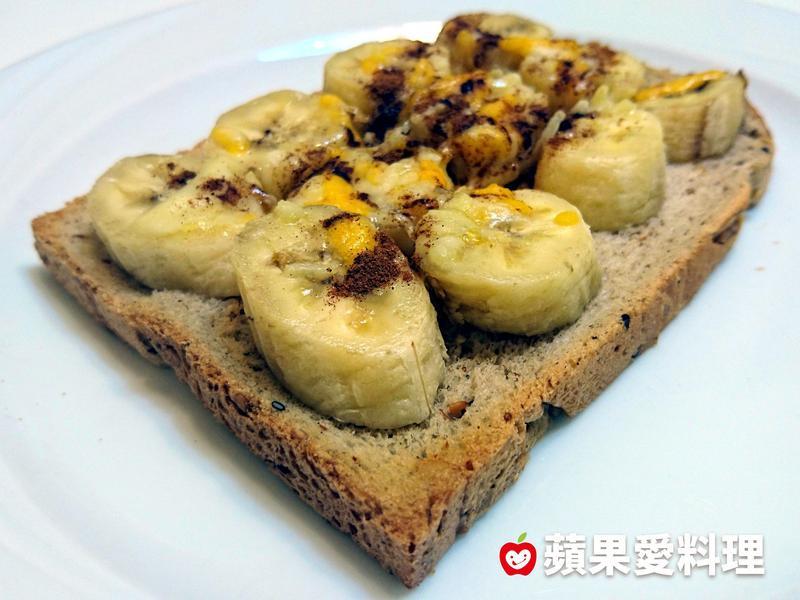 焗烤香蕉土司(3分鐘)