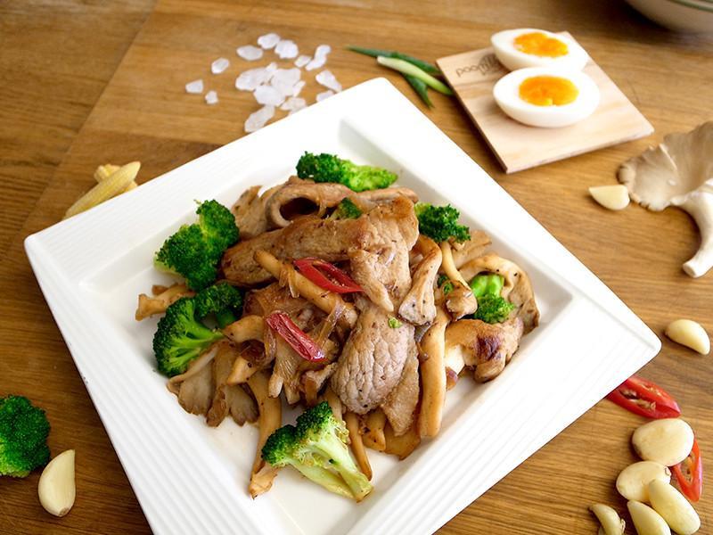 有心食譜:鮮菇金膀肉