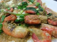 泰式綠咖哩蝦♥