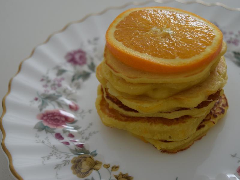 柳橙蜂蜜鬆餅
