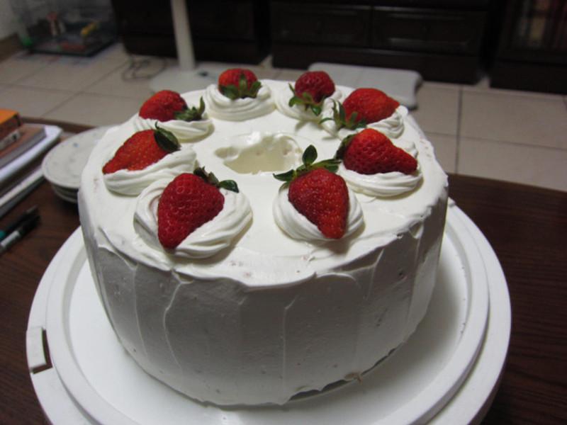 ♥我的手作料理♥ 草莓戚風
