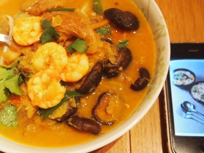 南洋式加哩海鮮麵