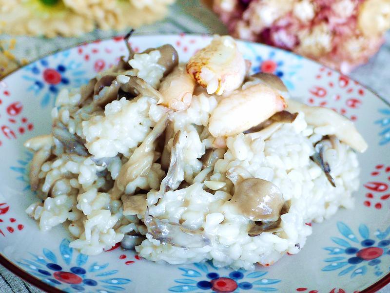 蟹肉野菇燉飯