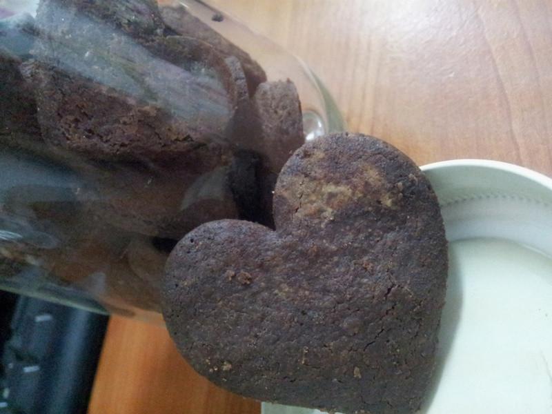 陳麗塔。第一次做巧克力餅乾就上手?