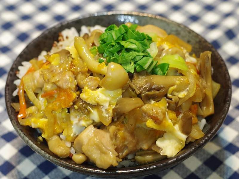 蕈菇雞肉丼