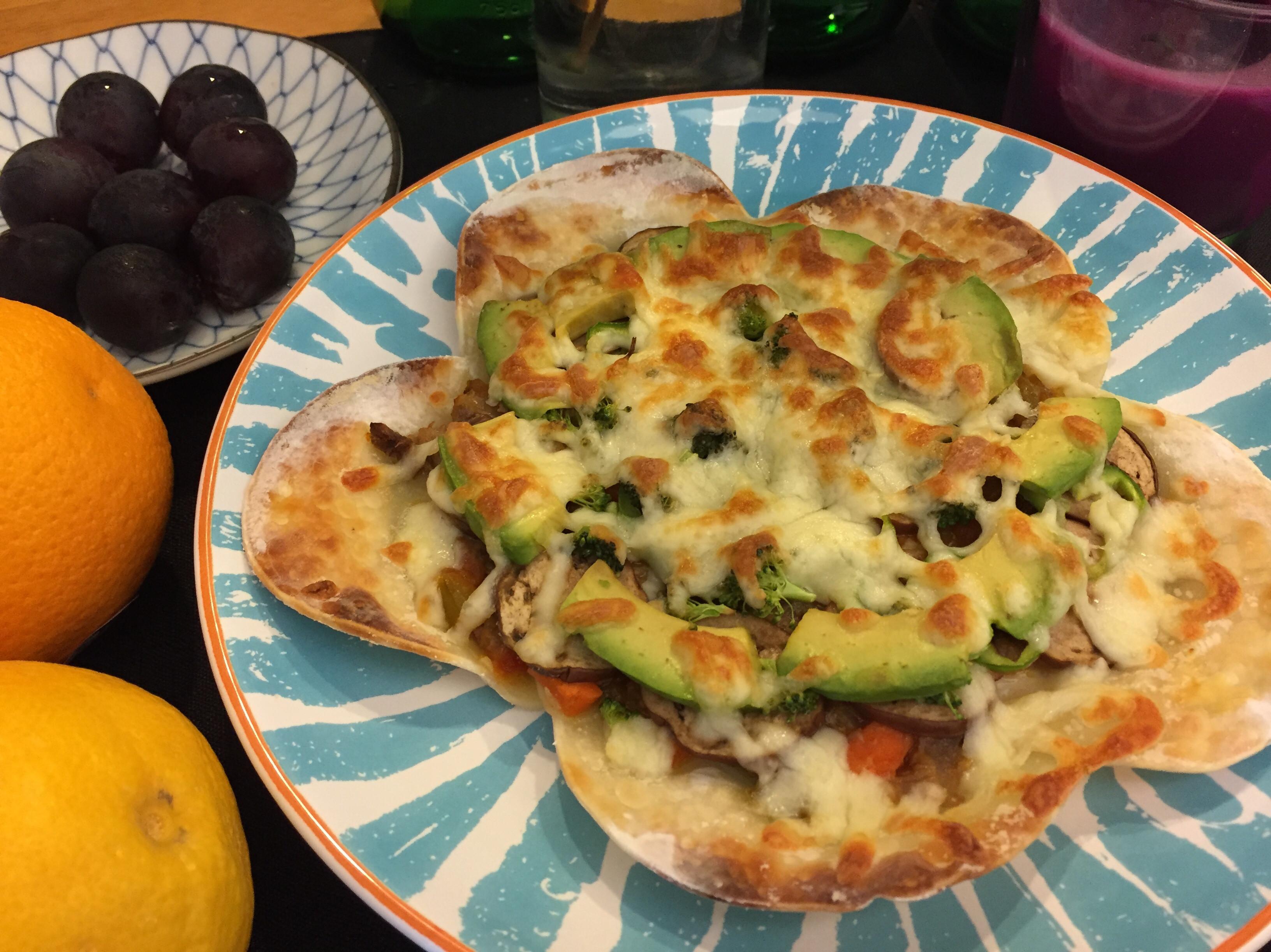 *貝貝麻麻*副食品 酪梨水餃皮pizza