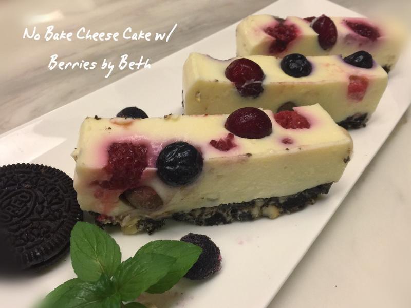 乳香莓果生起司蛋糕 - 免烤箱