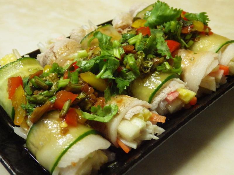 涼拌蔬食豬肉捲