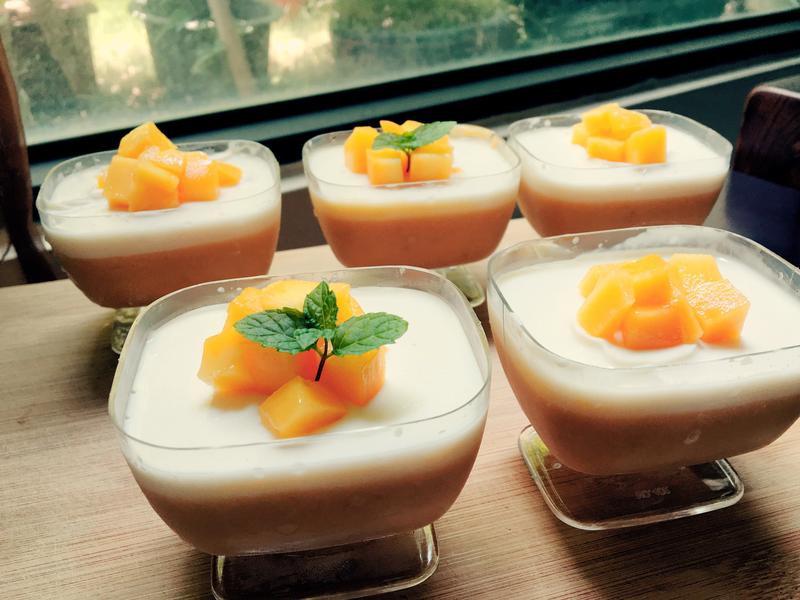 芒果漸層奶酪