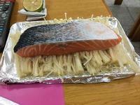 金針烤鮭魚