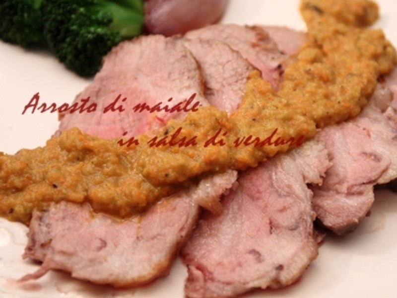 Arrosto烤肉切片佐蔬菜醬