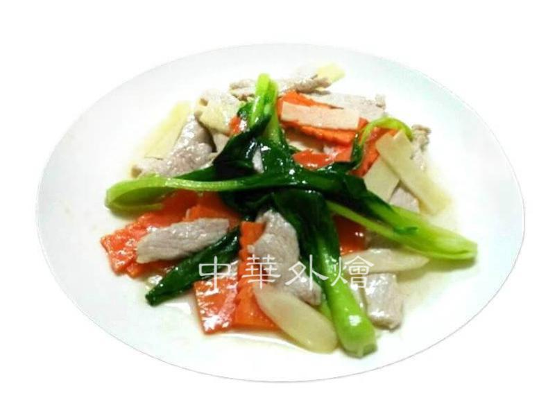 薑味麻油肉片【中餐丙級烹調】