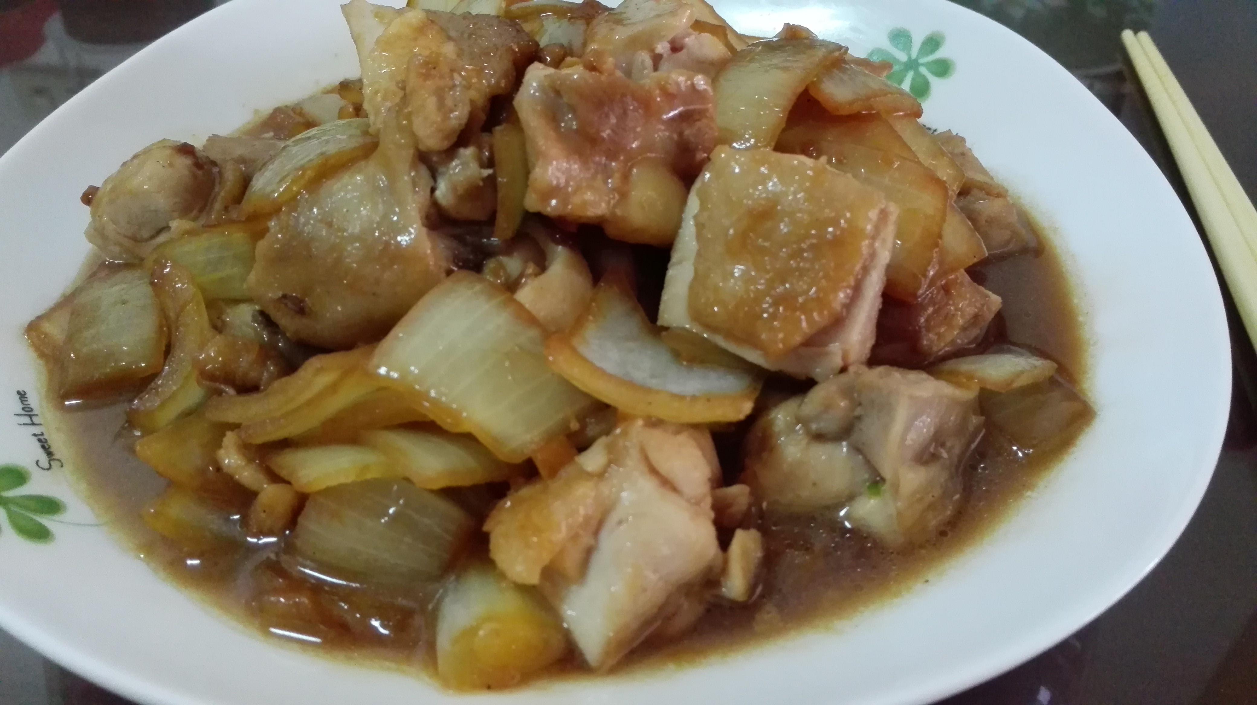 醬燒洋蔥雞腿